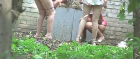 Girls pee in nature part 4